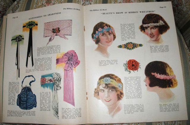 Ribbonwork magazine head bands