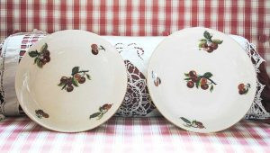 Limoges plates with cherries