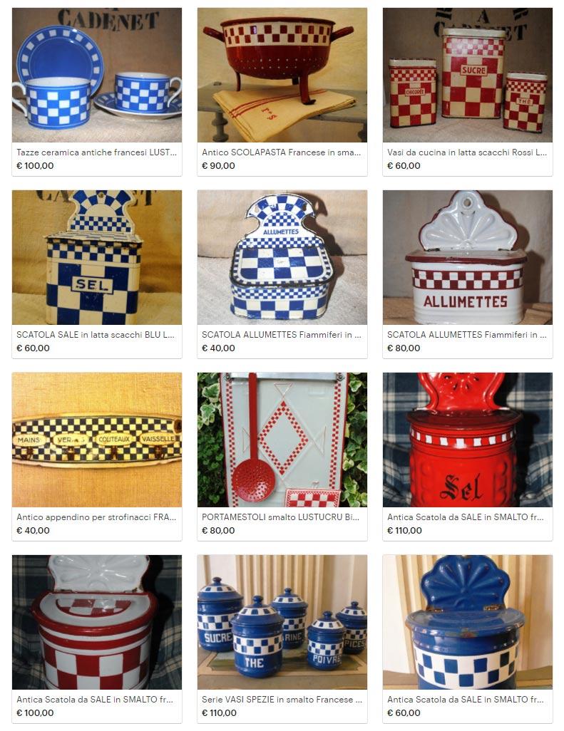 Smalti e ceramiche d epoca Lustucru