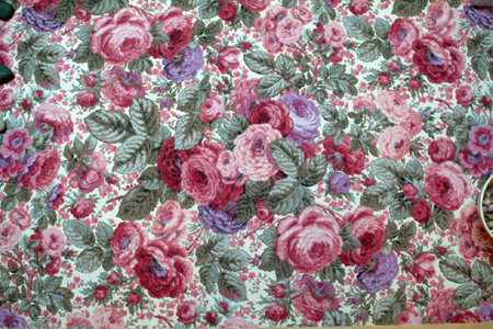 Antique french roses wallpaper