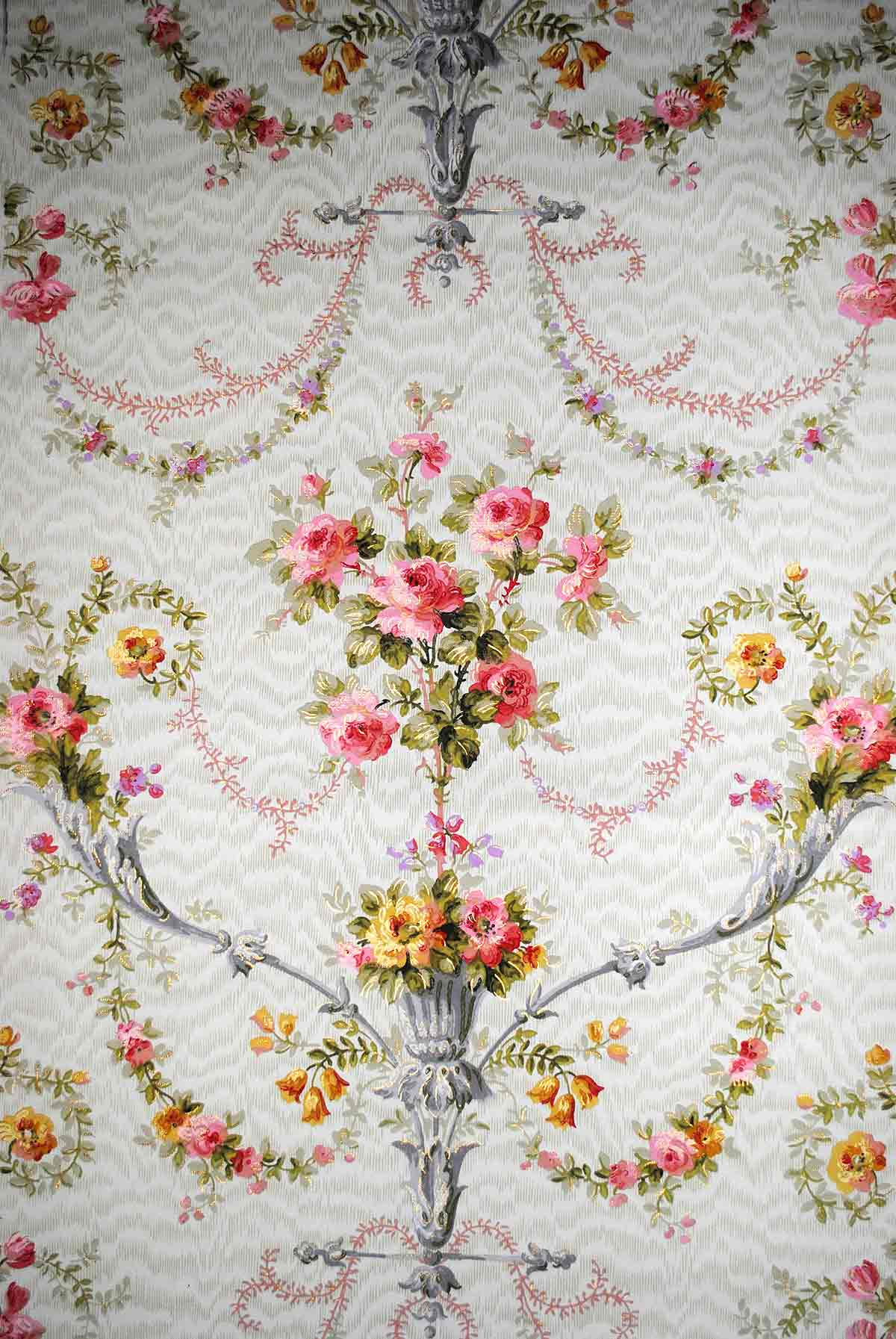 Antique wallpaper French