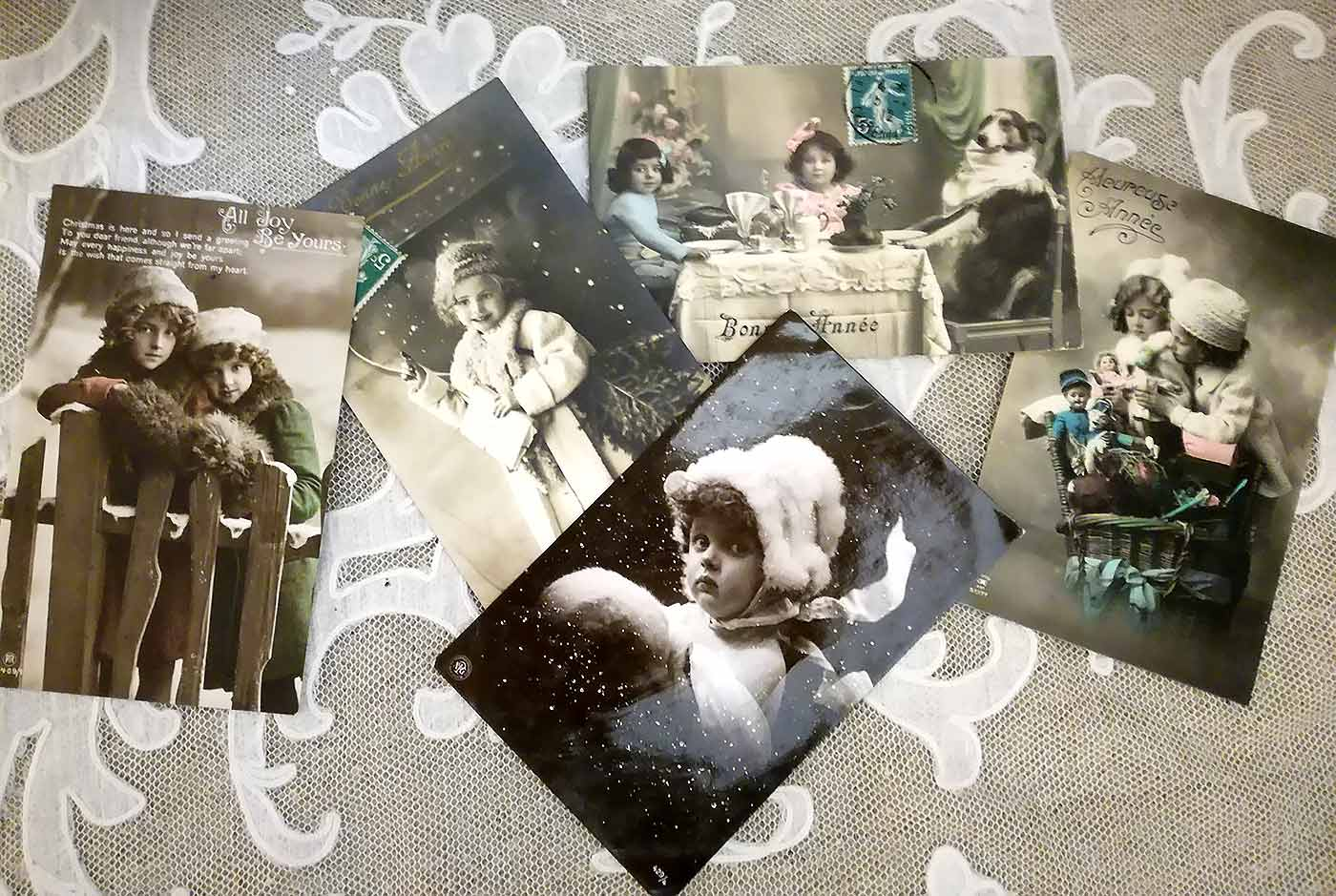Antique French Christmas postcards