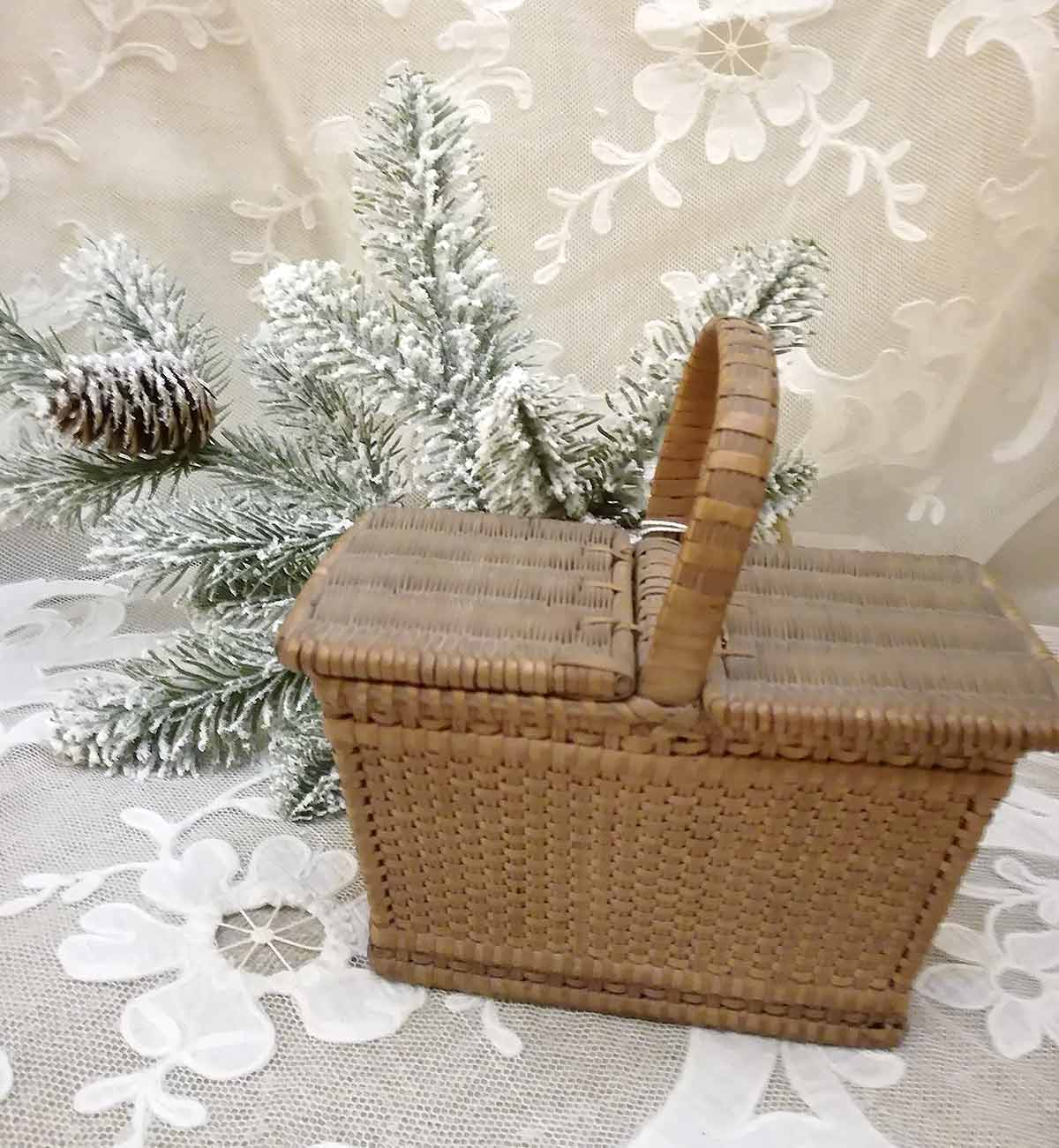 Antique French basket for doll
