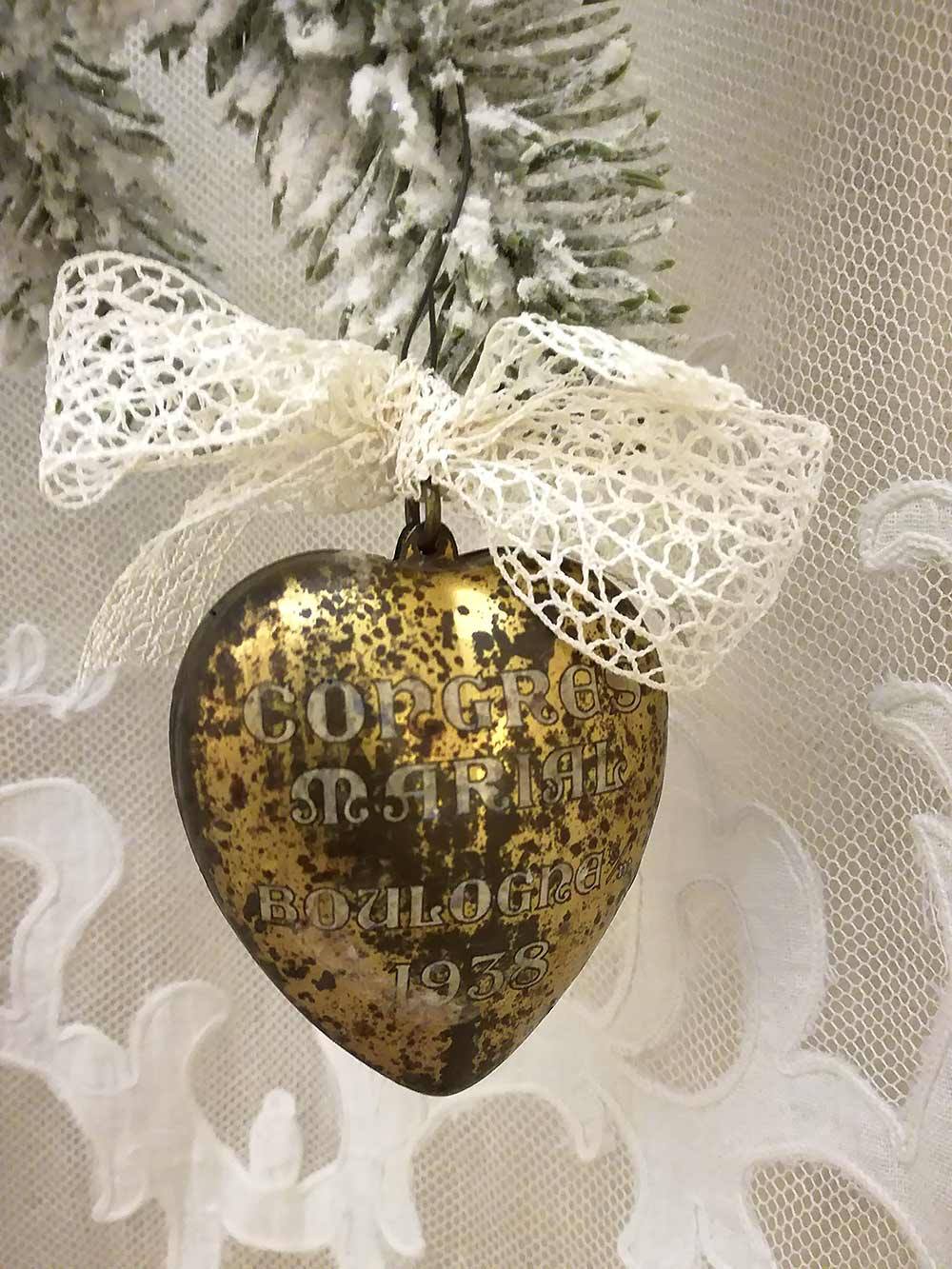 Antique French heart box