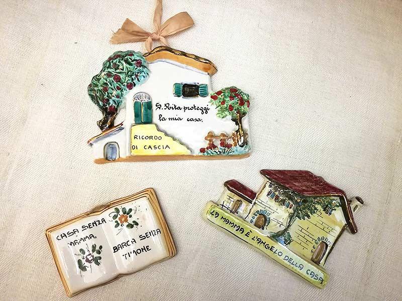 Placche antiche in ceramica festa della mamma
