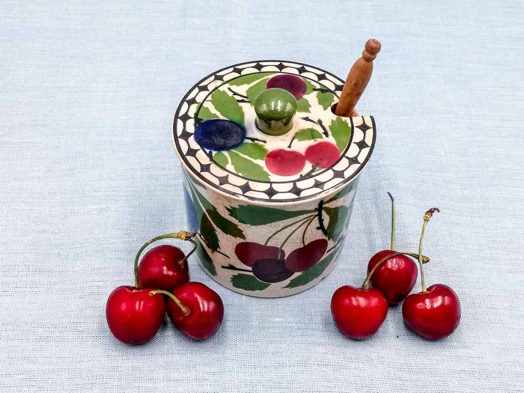 Antico vaso per mostarda francese Villeroy & Boch