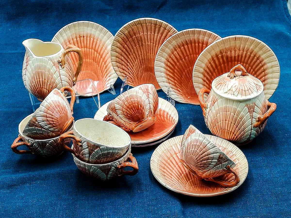 Barbotine antiche da collezione Sarreguemines