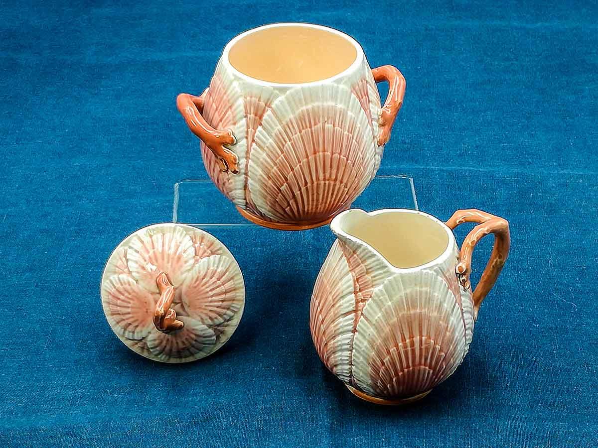 Servizio da thè di Barbotine da collezione Sarreguemines