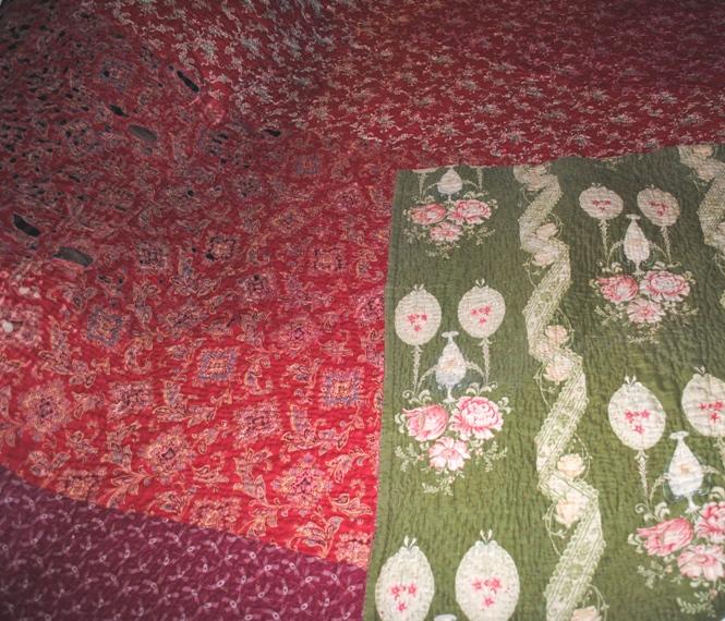 Durham quilt green both sides