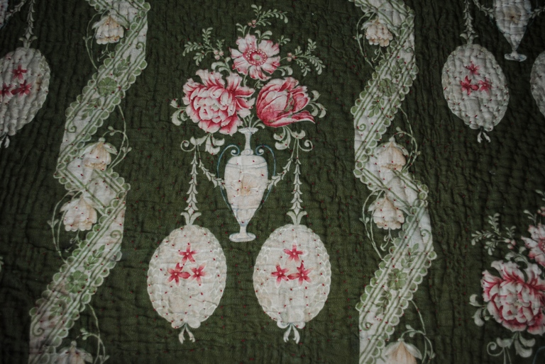 Durham quilt green design