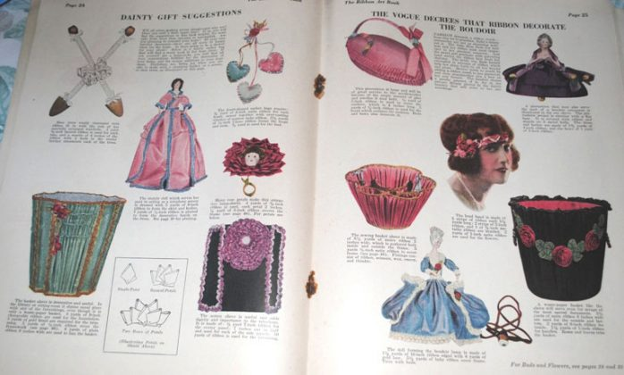 Ribbon art magazine 1923 boudoir items