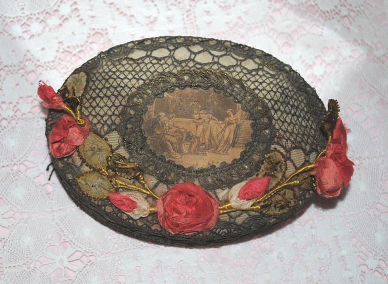 Ribbonwork box roses