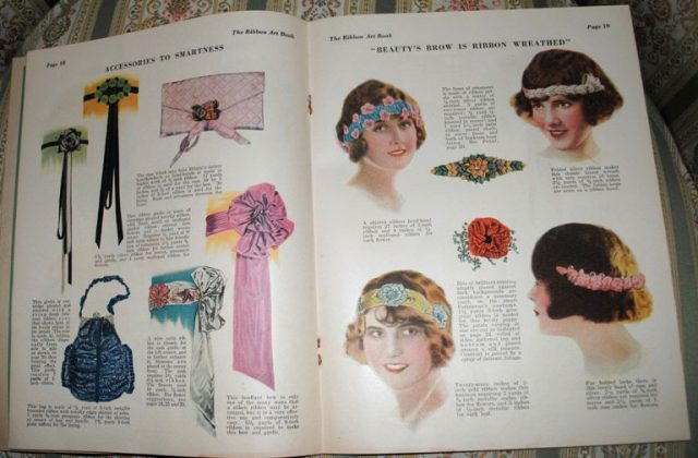 Ribbonwork magazine head bands