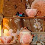 Antiche Barbotines - Tea set shells