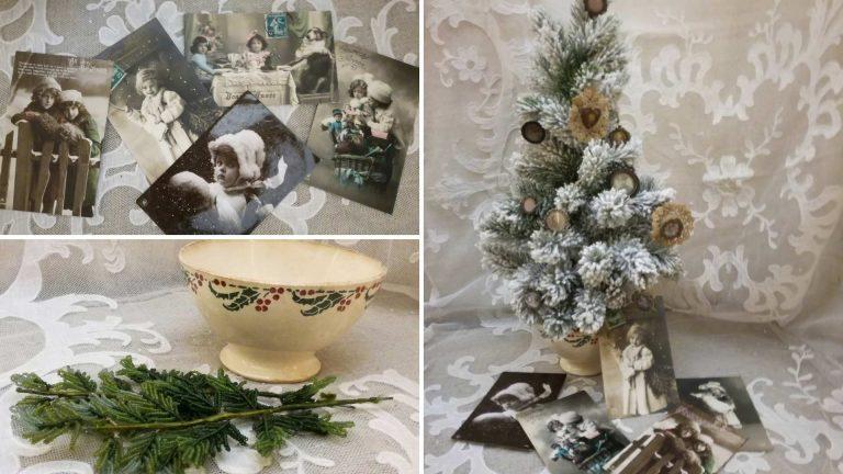 Decorazioni di Natale antiche: l'albero di Natale in stile Brocante
