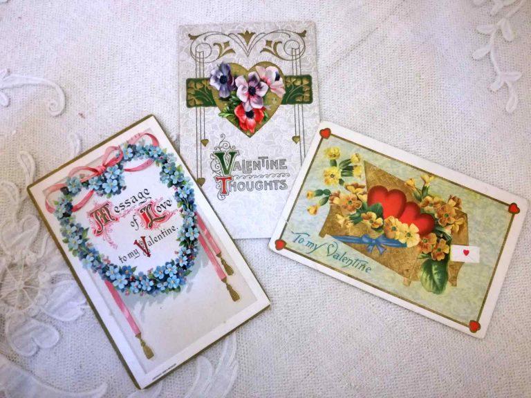 San Valentino: cartoline antiche e biglietti d'poca