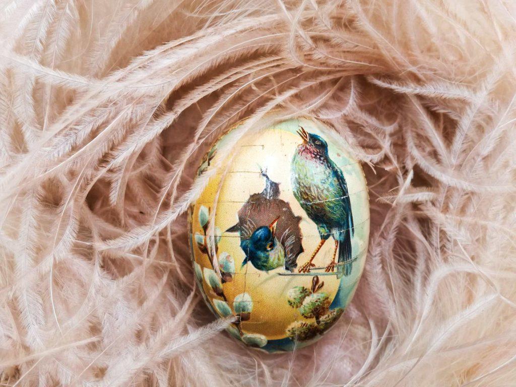 Antico uovo uovo di Pasqua epoca vittoriana