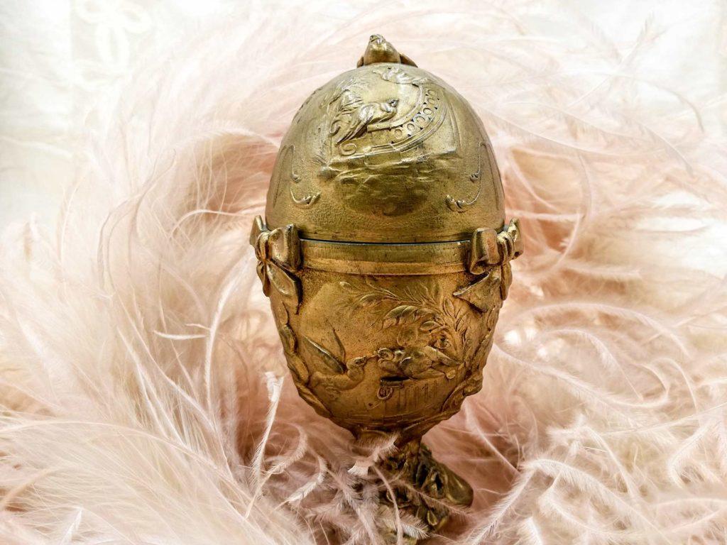 Scatola uovo portagioie da boudoir