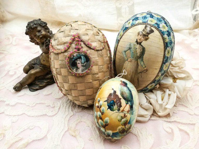 Uova di Pasqua antiche stile boudoir
